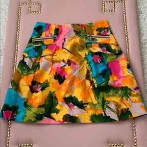 Nanette Lepore Bright Floral Mini Skirt